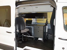 Vango Desks Ergonomic Van Mobile Office Cargo Van Desk