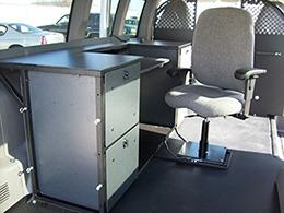 Vango Desks Ergonomic Van Mobile Office Cargo Van Desk