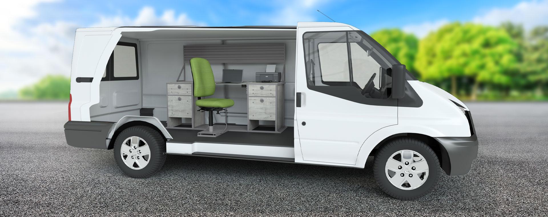 VanGo 800 van cutaway with interior view - angle 2
